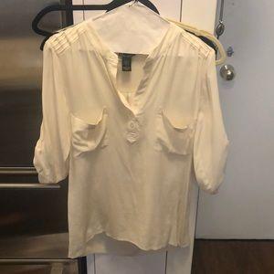 Ella Moss silk Blouse - cream/off white